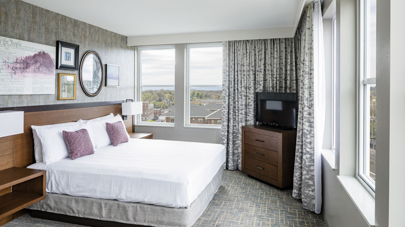 Executive sweet bedroom at The Hotel Madison in Harrisonburg, Virginia