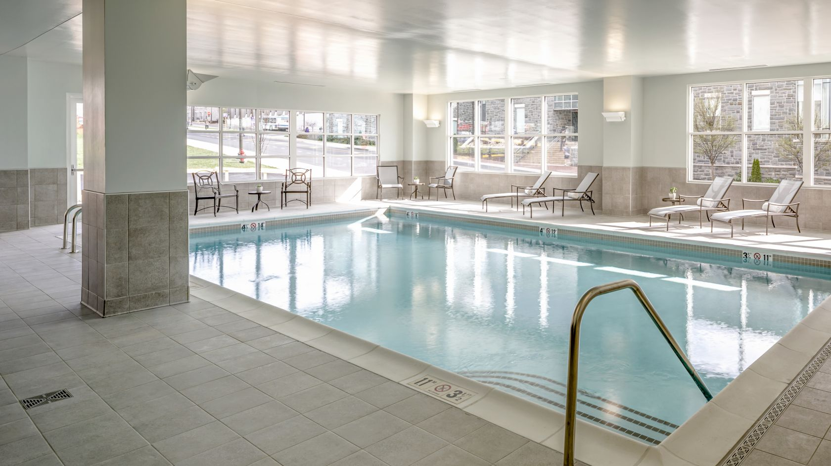 Indoor swimming pool at The Hotel Madison in Harrisonburg, Virginia